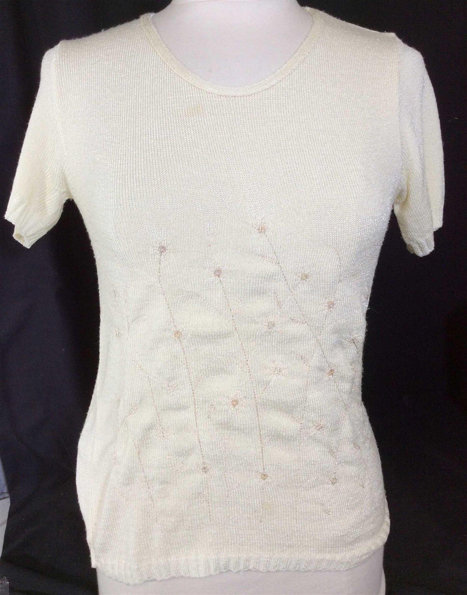 NEW PARK PARIS Designer Nylon Short Sleeve Sweater