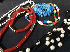 Lot 8 Costume Fashion Jewelry and Accessories
