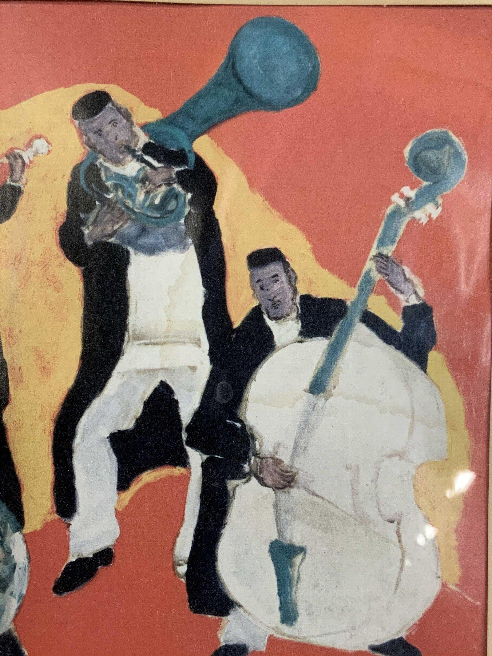 Mané-Katz Print of Men Playing Music
