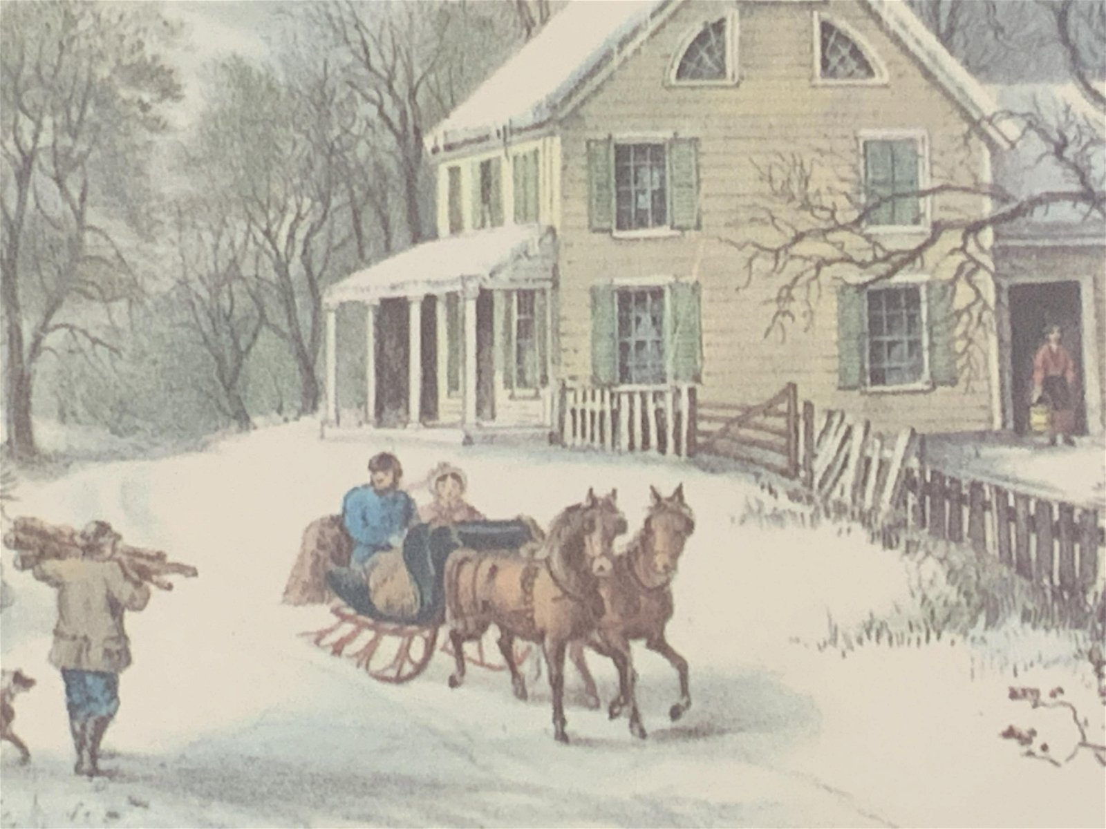 Set of Two American Homestead Lithographs