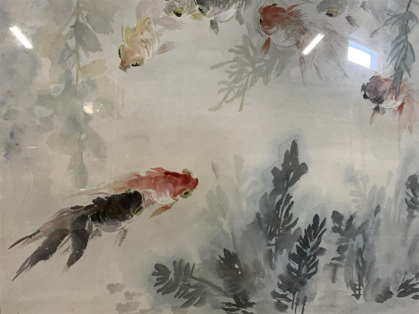 Chinese Style Coy Fish Painting