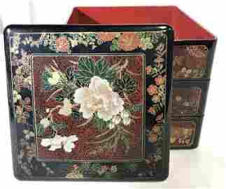 Vintage Asian Lacquered Bento Box