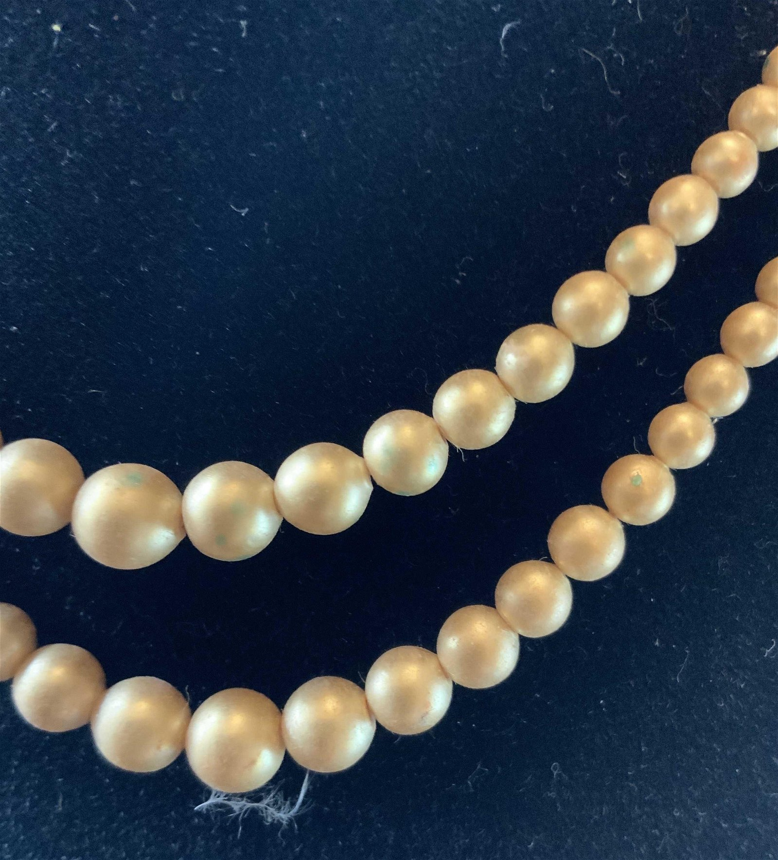 Vintage Gold toned 2 Strand Bead Necklace