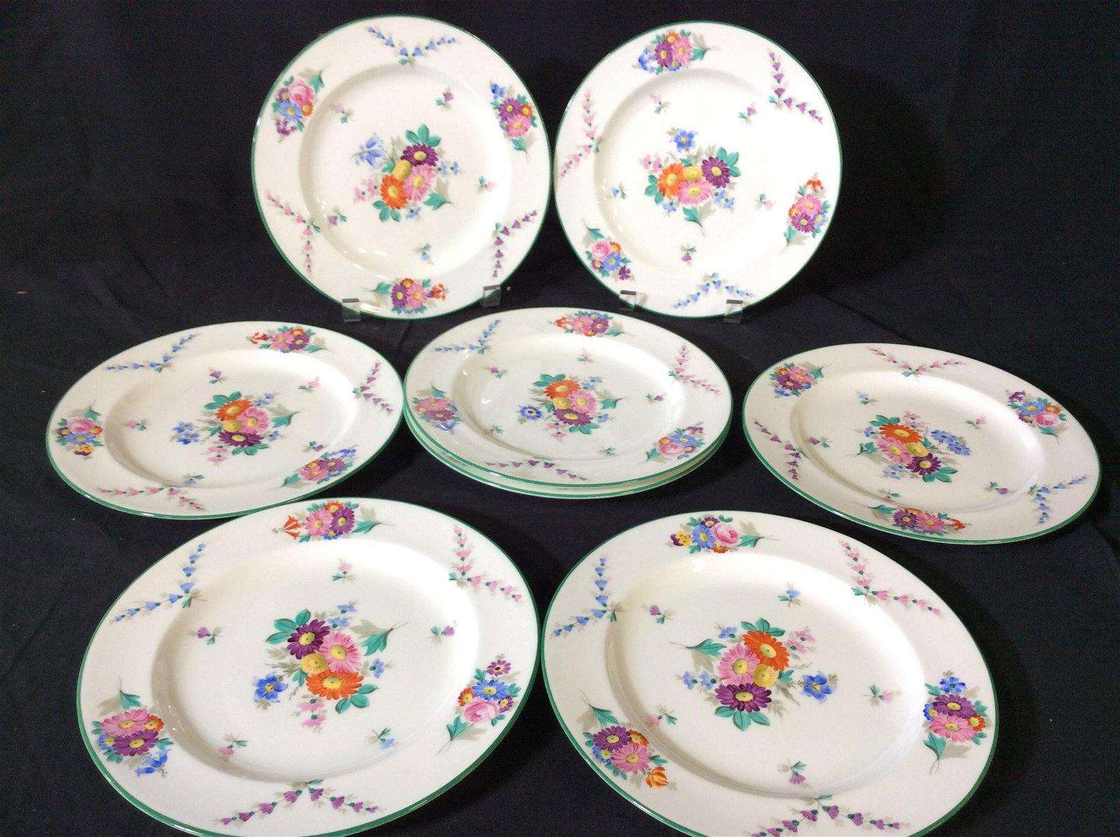 Set 8 Signed Wedgwood Porcelain Plates , England
