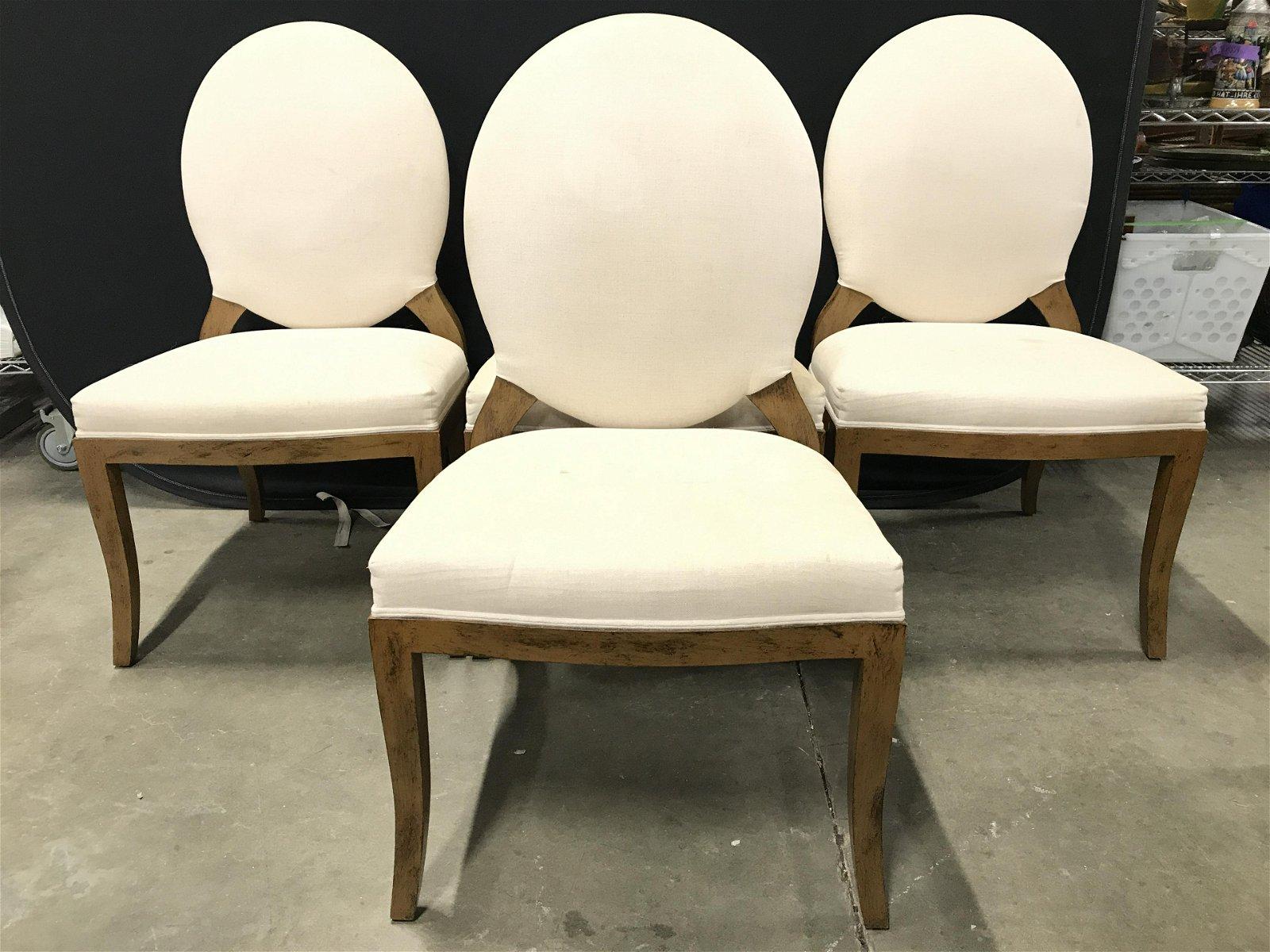 Set 4 Vintage Upholstered Side Chairs