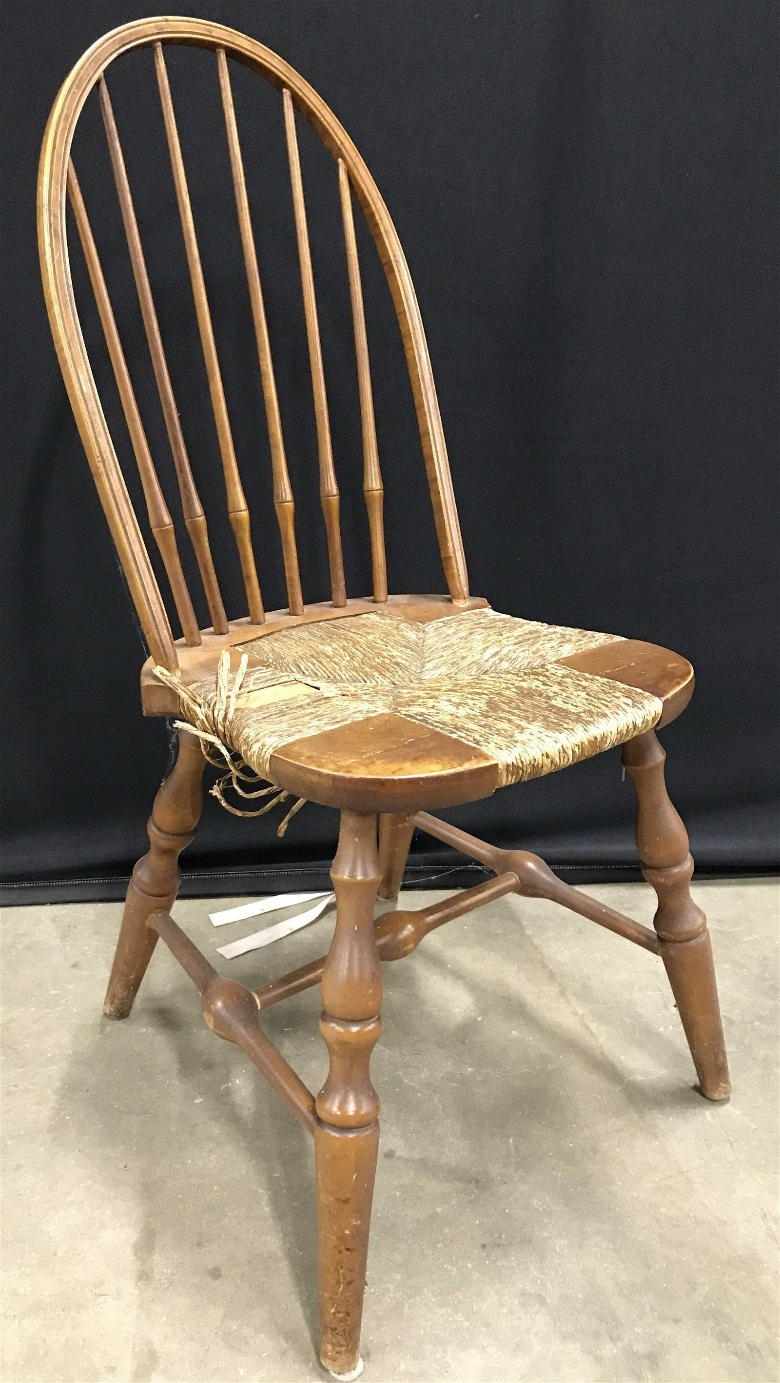 Antique Carved Wooden Spindle Back Chair