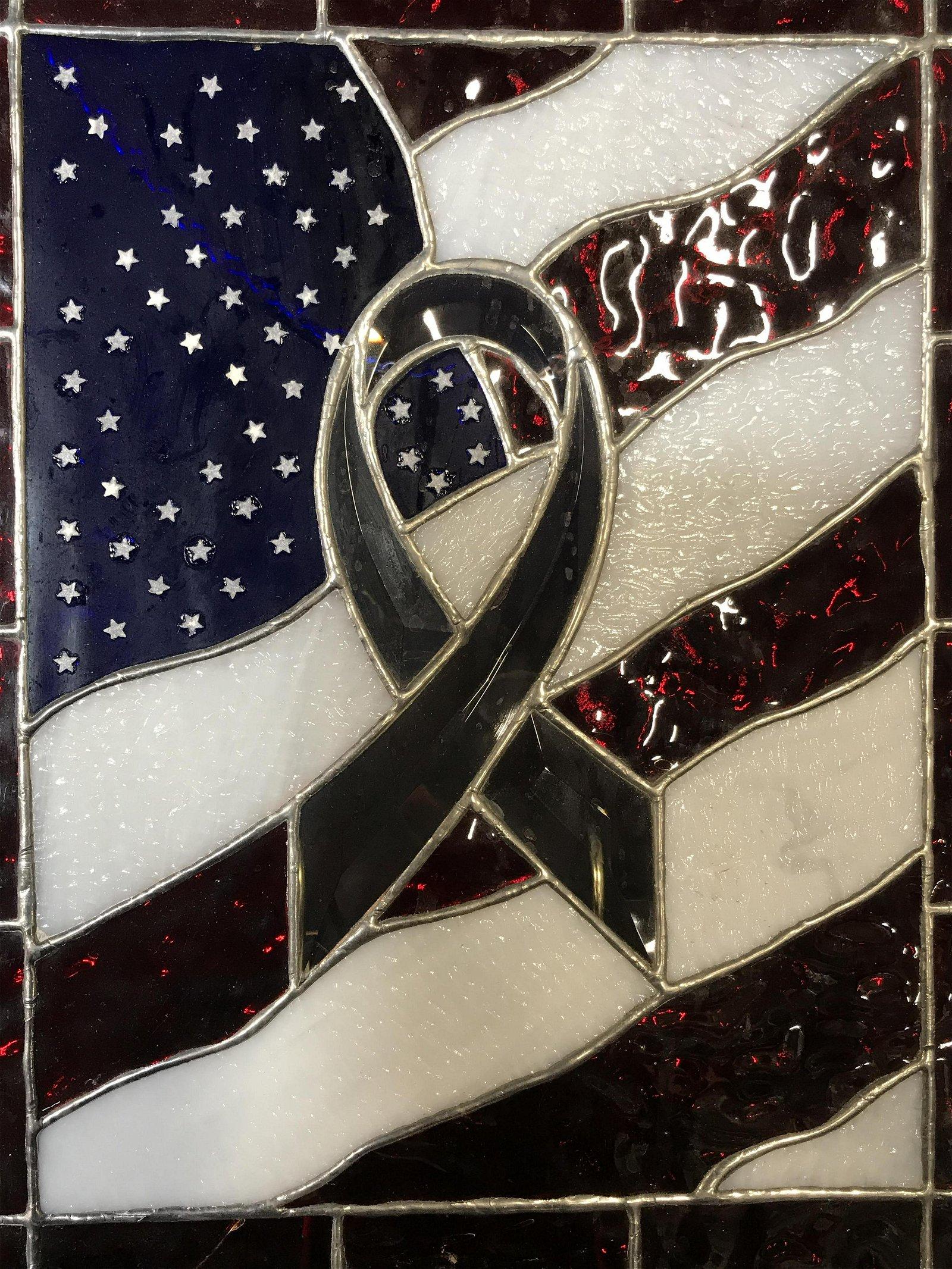 Colored Resin American Flag Art