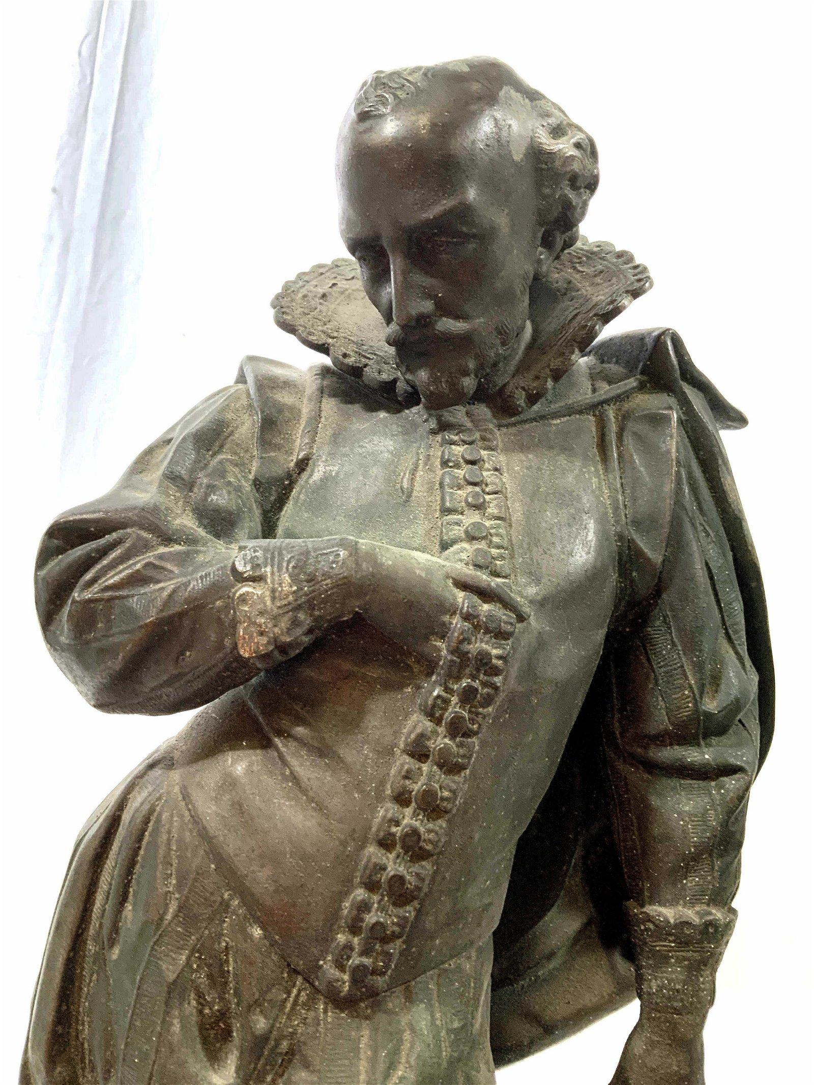 Bronze Shakespeare Figural Sculpture