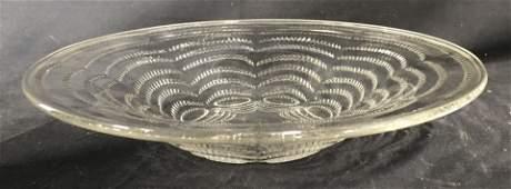 R LALIQUE FRANCE Cut Crystal Bowl