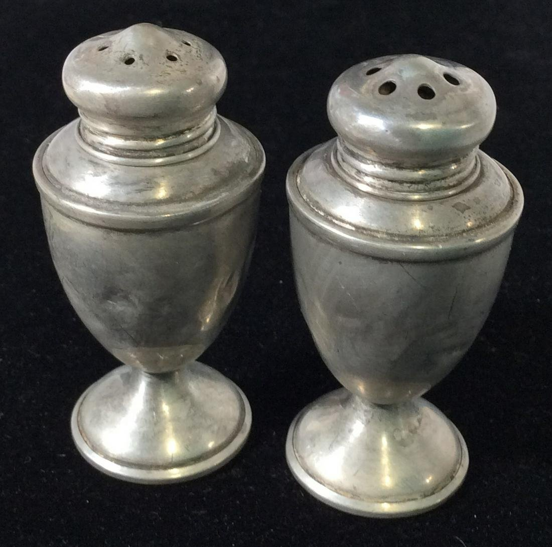 Weighted Sterling Salt Pepper Shakers , Set 4