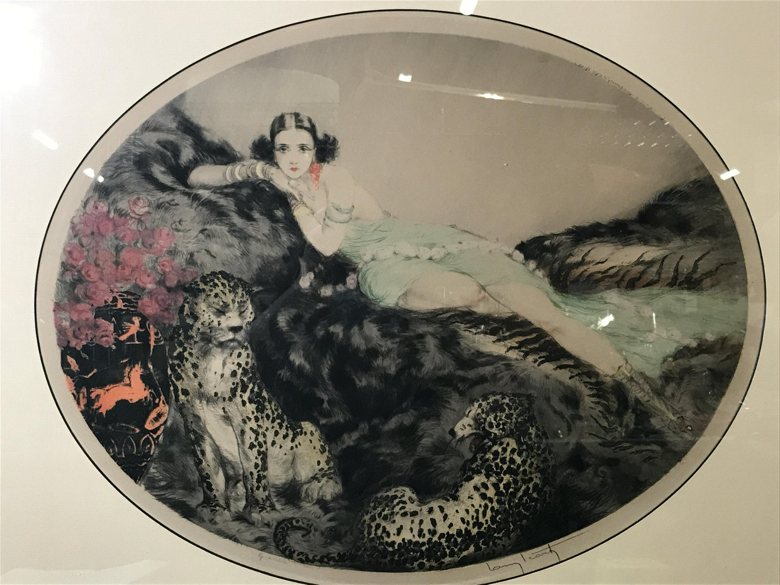 Louis Icart Signed Drypoint Etching