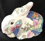Signed Asian Porcelain Rabbit Keepsake Box