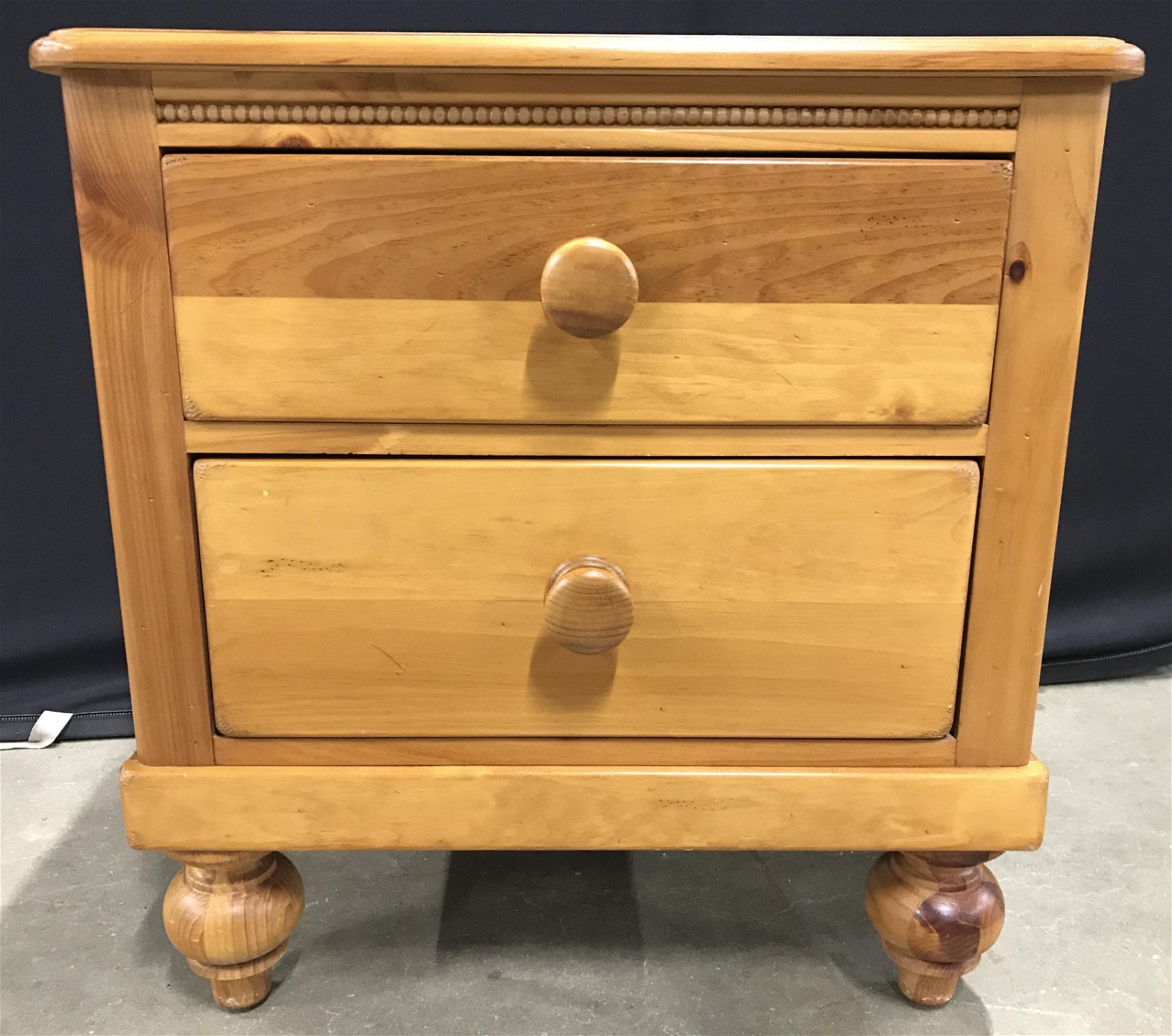 LEXINGTON Carved Wooden Nightstand