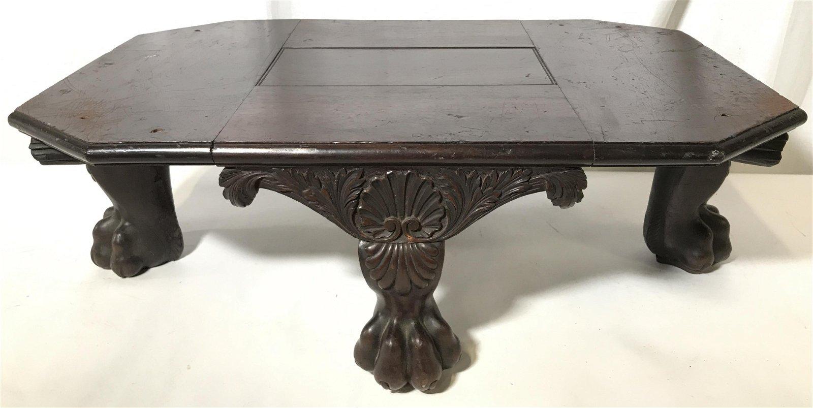 Antique Wooden Table Base, England
