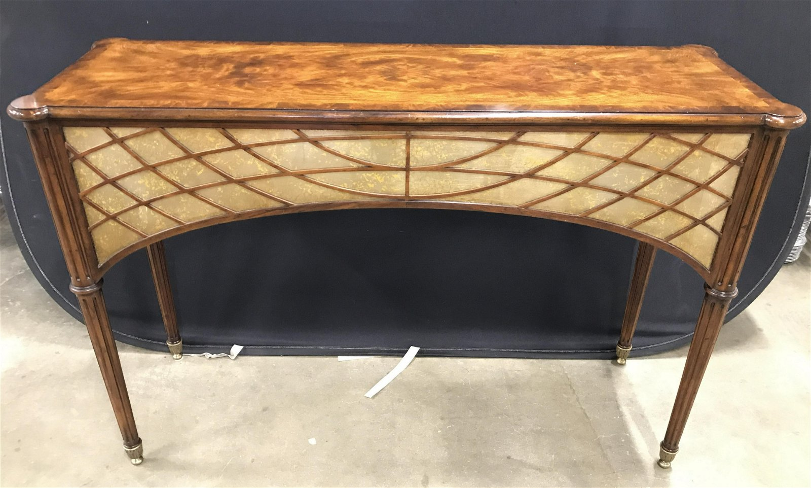 Carved Wooden High Console Table