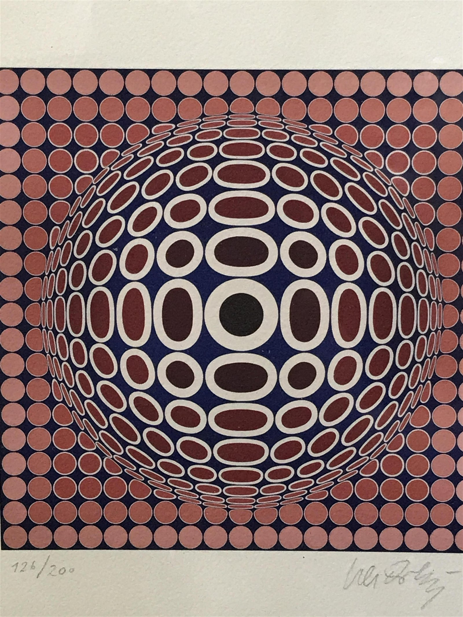 VICTOR VASARELY Signed Ltd Ed Lithograph
