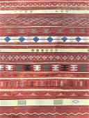 Vintage Tribal Style Flat Weave Wool Rug