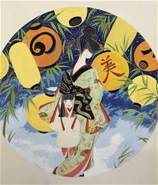 Miharu Lane Signed Acrylic Painting on Board