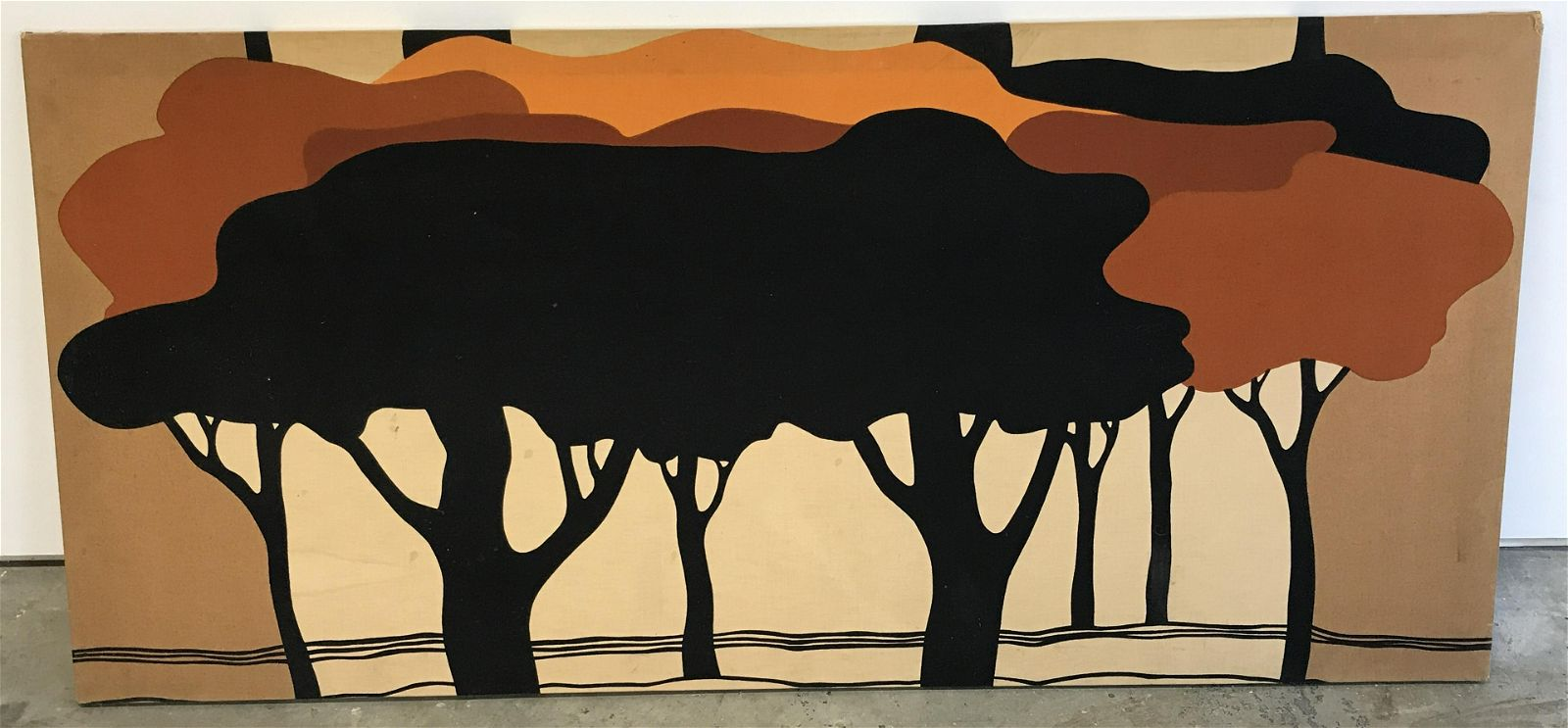 Minimalist Trees Artwork Print On Fabric Oct 07 2020 The Benefit Shop Foundation Inc In Ny