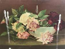 A.W.Gottlock Signed Oil Painting Floral Still Life