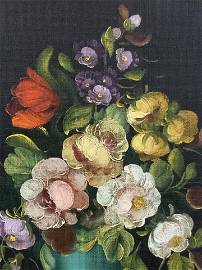 R. Rosini Floral Oil Painting