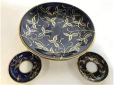 Set 3 ROSENTHAL Porcelain Saucers  Serving Plate