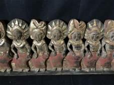 Far East Asian Dragon Boat Procession Sculpture