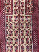 Vintage Caucasian Style Handmade Wool Rug