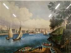 Frances Palmer Blackwell's Island Offset Litho