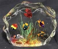 Murano Art Glass Aquarium Paperweight