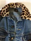 Vintage Lee Jean Jacket Faux Fur Collar