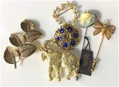Large Lot Vintage Designer Earrings Pins Watches