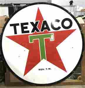 Vintage Metal TEXACO Sign