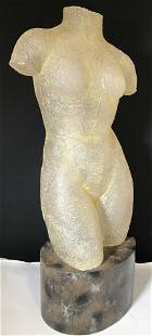 Vintage Female Nude Venetian Glass Sculpture