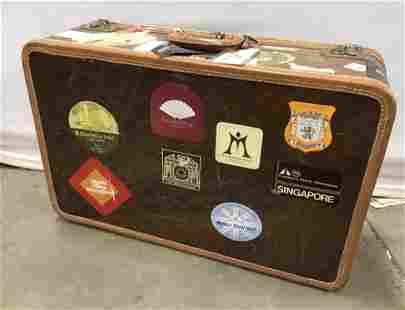 Vintage AMELIA EARHART Wood Suitcase