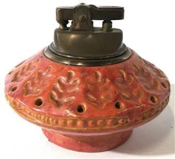Orange Toned Italian Ceramic Lighter