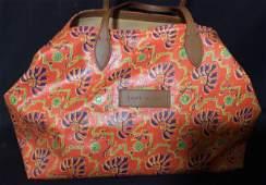 Luxe Ralph Lauren Orange Canvas Tote Bag