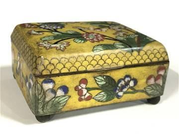 Vintage Asian Enameled Lidded Trinket Box