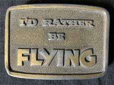 Pair Vintage Metal Belt Buckles