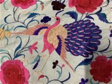 Embroidered Shawl W Fringe