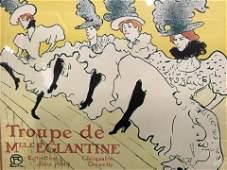 TOULOUSE LAUTREC Lithograph Moulin Rouge Ad