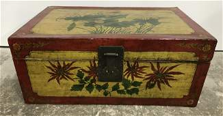 Vintage Hand Painted Asian Style Chest