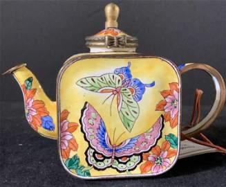 KELVIN CHEN Handmade Enamel Miniature Teapot
