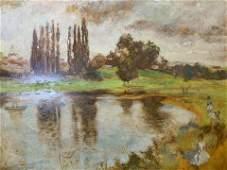 Signed Oil Painting 1968, Landscape Artwork