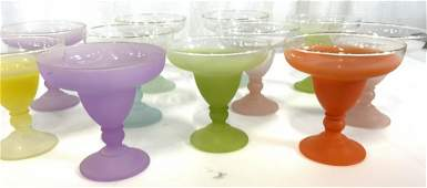 Set 11 Retro COLORFUL BLENDO Cocktail Glasses