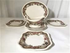 8pcs DEVONSHIRE JOHNSON BROS Partial Porcelain Set