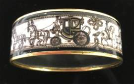 HERMES Paris Signed Enamel Bracelet