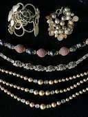 Lot 5 Necklaces & Bracelets, LIZ CLAIBORNE & More