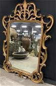 Vintage Carved Wood Frame Mirror Italy