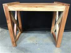 Wooden Bench W Wooden X Legs